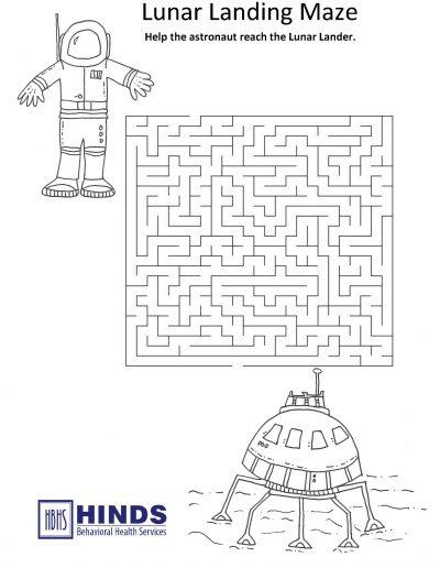 Lunar Landing Maze