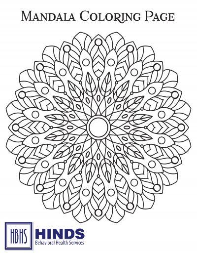 Mandala Coloring Page 1