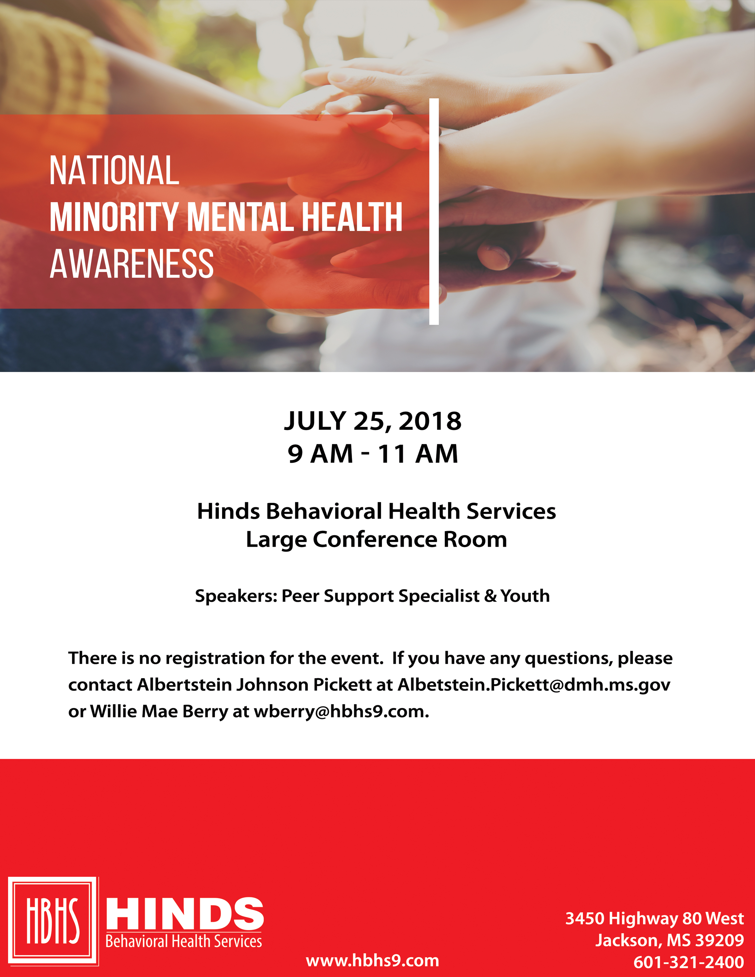 National Minority Mental Health Awareness Month Event Hinds