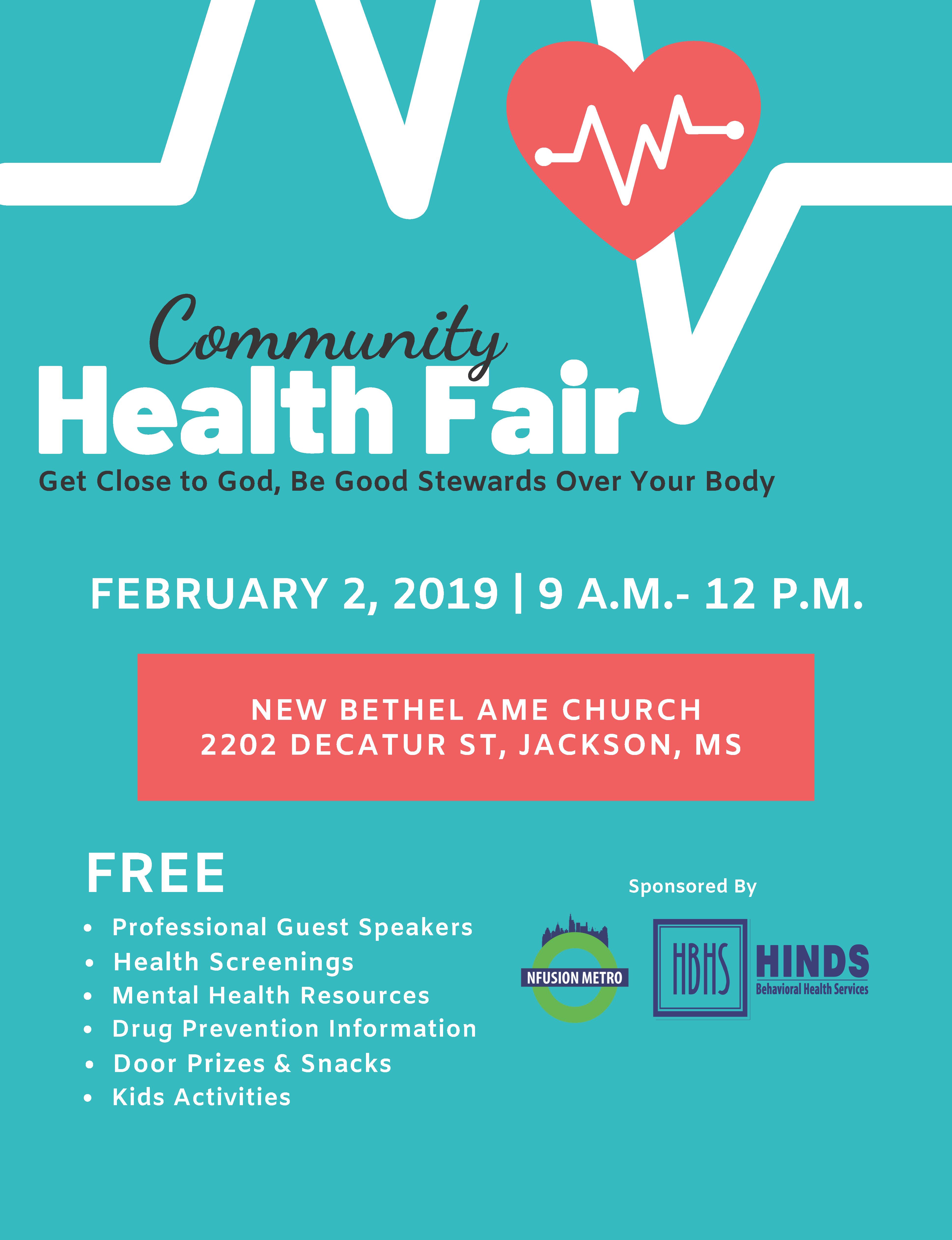 Excellent Free Resources Behavioral >> Community Health Fair Hinds Behavioral Health Services Region 9