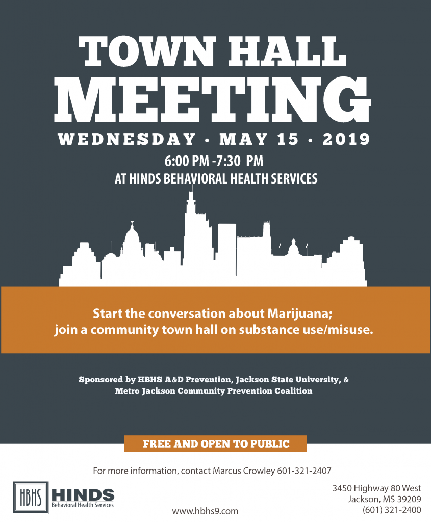 town hall meeting flyer 2019  revision 2  - hinds behavioral health services